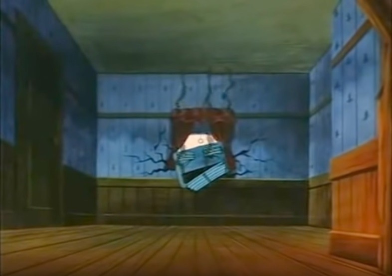 Busted Air Conditioner in Wall from The Brave Little Toaster