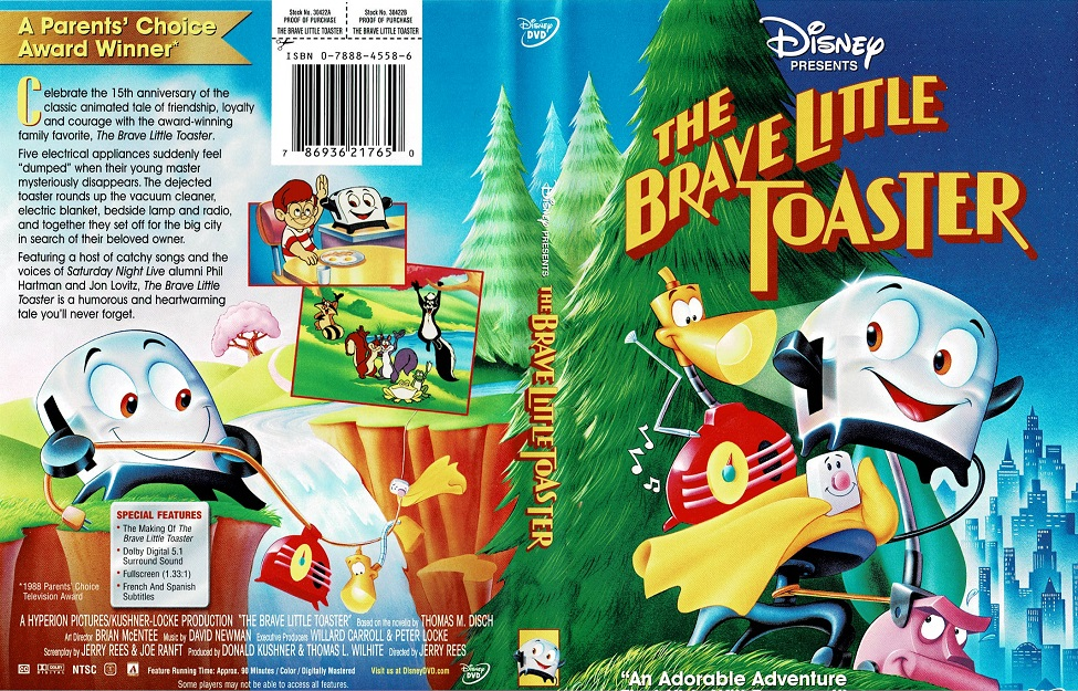 The Brave Little Toaster DVD cover